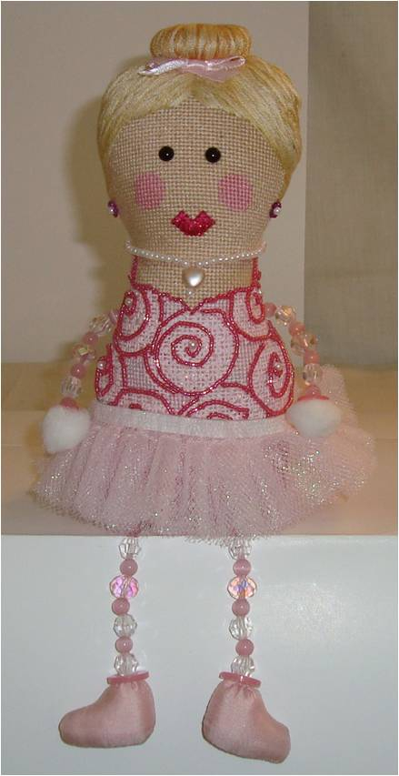 click here to view larger image of Betty Ballerina (hand painted canvases)