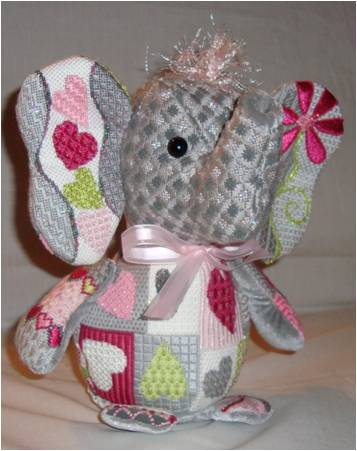 click here to view larger image of Ella Elephant (hand painted canvases)