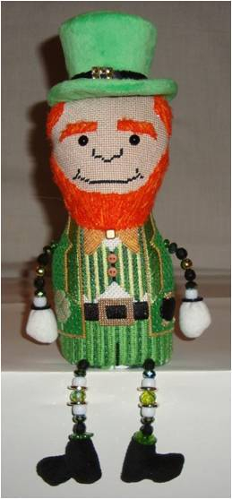 click here to view larger image of Lucky Leprechaun (hand painted canvases)