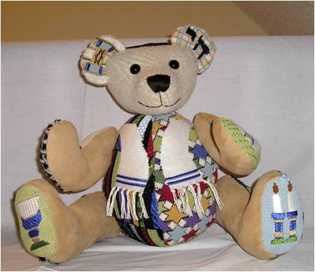 click here to view larger image of Brandon Bear (hand painted canvases)