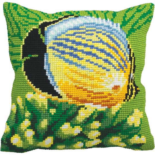 click here to view larger image of Poisson Exotique Gauche (Exotic Fish Left) (needlepoint kits)