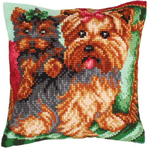 click here to view larger image of Dogs on the Armchair (needlepoint kits)