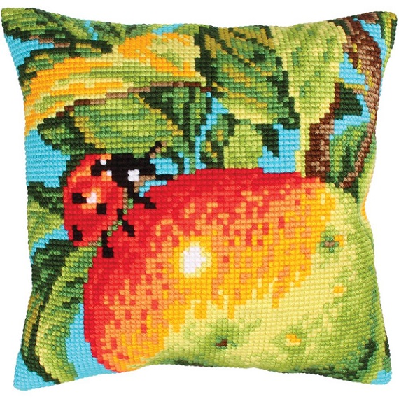 click here to view larger image of Ladybug on Apple (needlepoint kits)