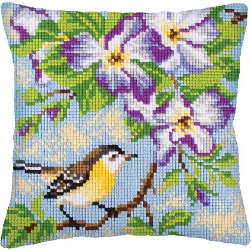 click here to view larger image of Little Titmouse on a Branch (needlepoint kits)