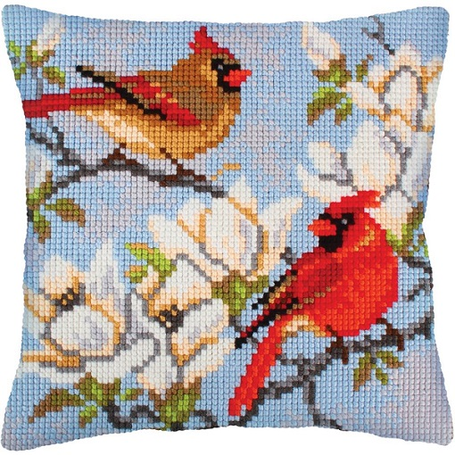 click here to view larger image of On A Magnolia Branch (needlepoint kits)