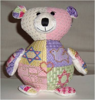 click here to view larger image of Bat Mitzvah Bear (hand painted canvases)