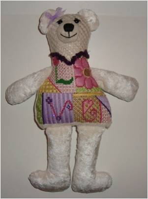 click here to view larger image of Cuddles Bear (hand painted canvases)