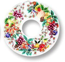 click here to view larger image of Della Robbia Wreath (hand painted canvases)