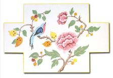 click here to view larger image of Bird and Flower Doorstop (hand painted canvases)