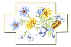 click here to view larger image of Floral Doorstop (hand painted canvases)