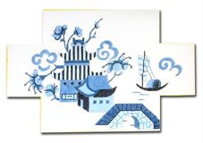 click here to view larger image of Chinoiserie Doorstop (hand painted canvases)