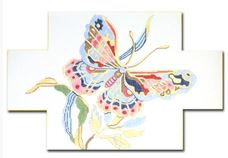 click here to view larger image of Butterfly Doorstop (hand painted canvases)