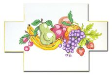 click here to view larger image of Fruit Doorstop (hand painted canvases)
