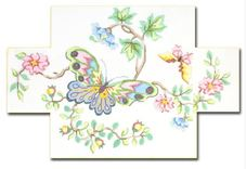 click here to view larger image of Bright Butterfly Doorstop (hand painted canvases)