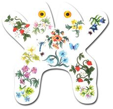 click here to view larger image of Flower Frog (hand painted canvases)