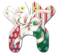 click here to view larger image of Christmas Frog (hand painted canvases)