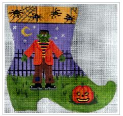 click here to view larger image of Frankenstein Mini-Sock (hand painted canvases)
