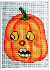 click here to view larger image of Jack-O-Lantern 4 (hand painted canvases)