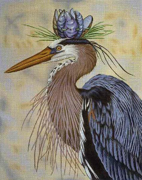 click here to view larger image of Heron Royalty (hand painted canvases)