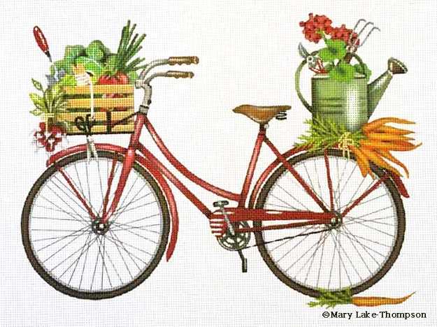 click here to view larger image of Garden Bicycle (hand painted canvases)