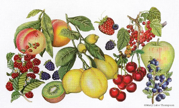 click here to view larger image of Fruit Market (hand painted canvases)