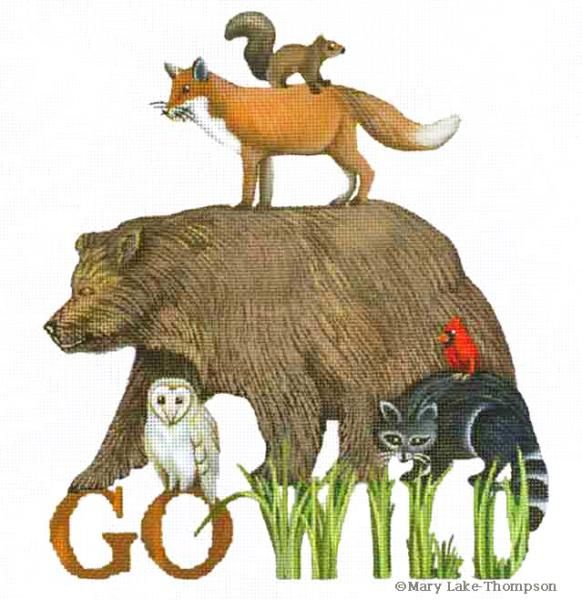 click here to view larger image of Go Wild (hand painted canvases)