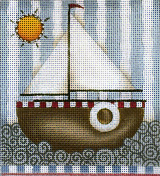 click here to view larger image of Sailboat (hand painted canvases)