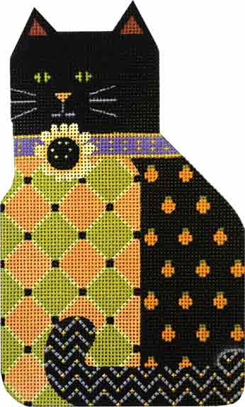 click here to view larger image of Sunflower Boo Kitty (hand painted canvases)