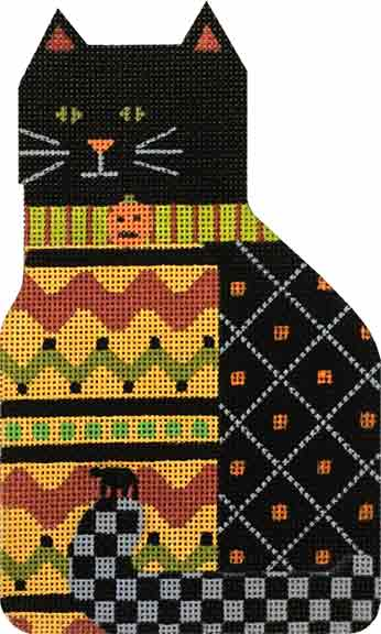 click here to view larger image of Ric Rac Boo Kitty (hand painted canvases)