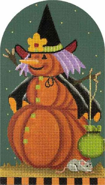 click here to view larger image of Mousey Punkin Witch (hand painted canvases)