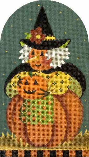 click here to view larger image of Punkin Punkin Witch (hand painted canvases)