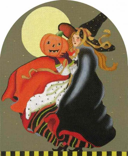 click here to view larger image of Vintage Witch (hand painted canvases)