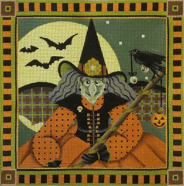 click here to view larger image of Wicked Witch Pillow (hand painted canvases)