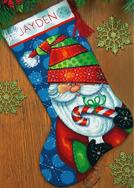 click here to view larger image of Sweet Santa Stocking (needlepoint kits)