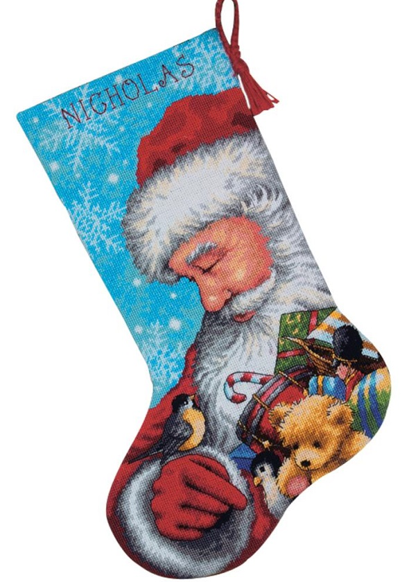 click here to view larger image of Santa and Toys Stocking (needlepoint kits)