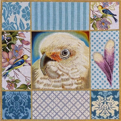 click here to view larger image of Cockatoo Collage (hand painted canvases)