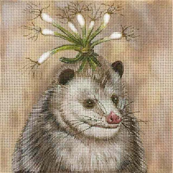 click here to view larger image of Party Opossum (hand painted canvases)