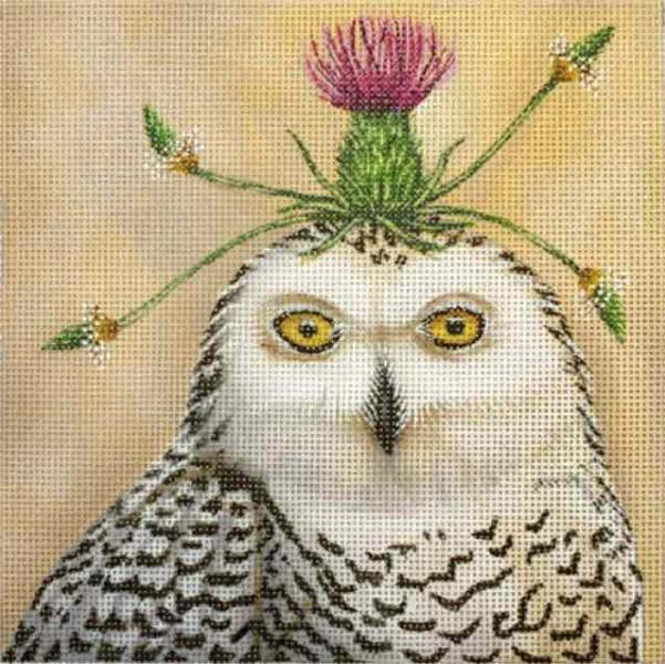 click here to view larger image of Thistle Owl (hand painted canvases)