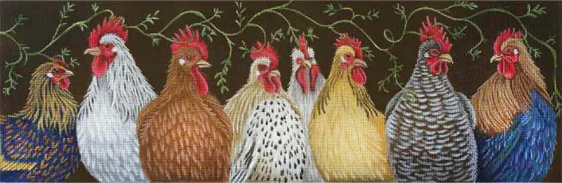 click here to view larger image of Chicken Vine (hand painted canvases)
