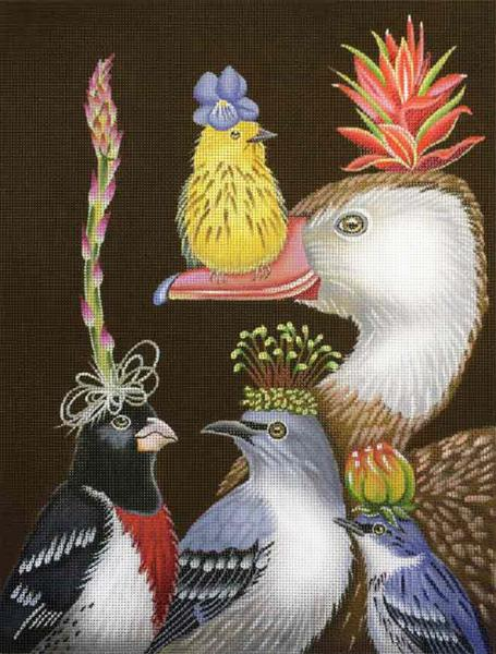 click here to view larger image of Willy Warbler and His Guests (hand painted canvases)