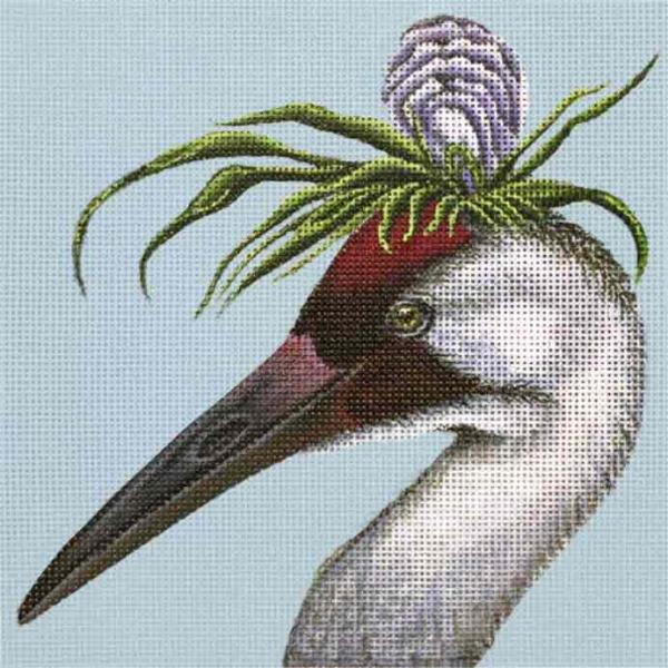 click here to view larger image of Oyster Heron (hand painted canvases)