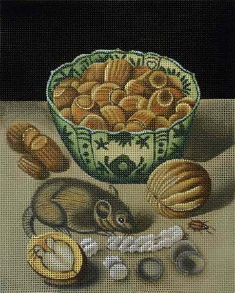 click here to view larger image of Mouse and Hazelnuts (hand painted canvases)
