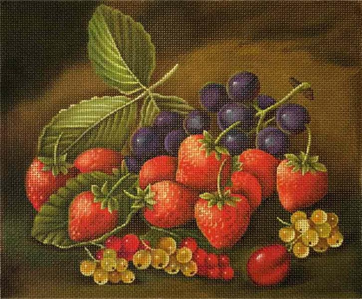 click here to view larger image of Strawberries (hand painted canvases)