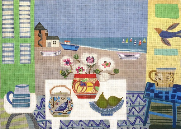 click here to view larger image of Aldenburgh Beach - 18ct (hand painted canvases)