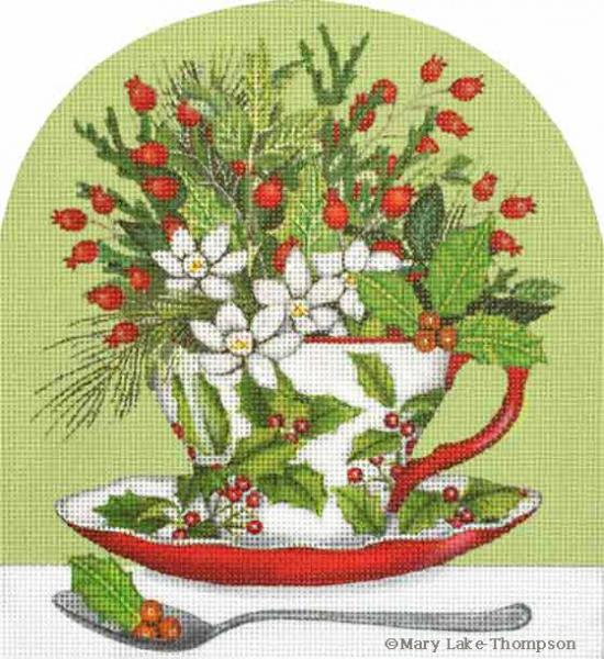 click here to view larger image of Holly Cup (hand painted canvases)