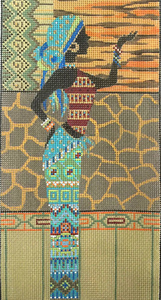 click here to view larger image of African Woman In Blue (hand painted canvases)