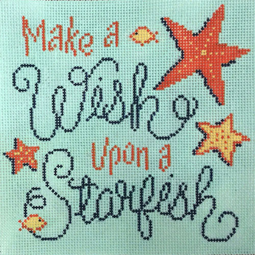 click here to view larger image of Make A Wish Starfish (hand painted canvases)