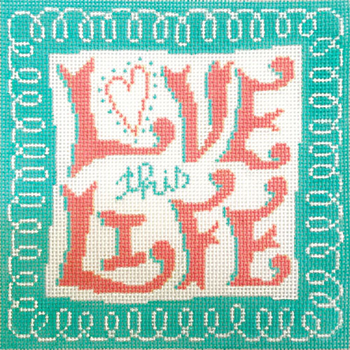 click here to view larger image of Love This Life (hand painted canvases)