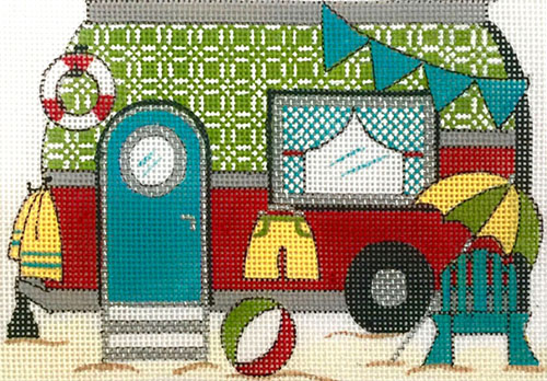 click here to view larger image of Beach Trailer (hand painted canvases)