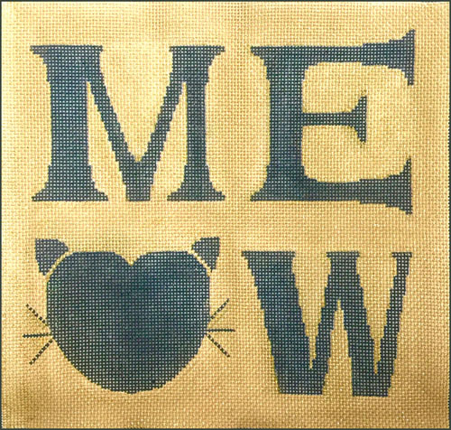 click here to view larger image of Meow (hand painted canvases)